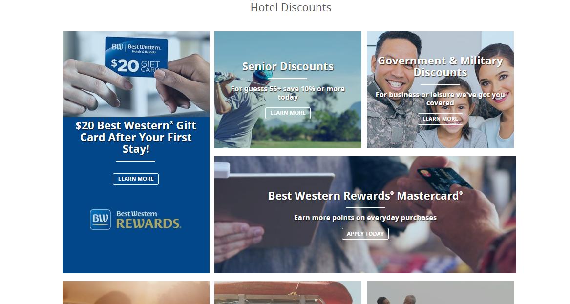 Best Western Hotels & Resorts Discounts