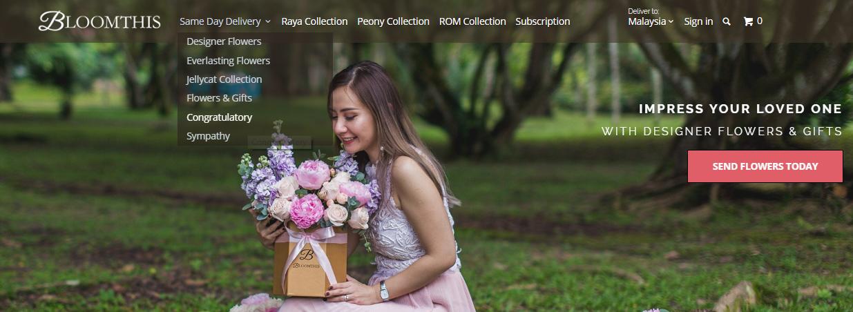 BloomThis Florist homepage