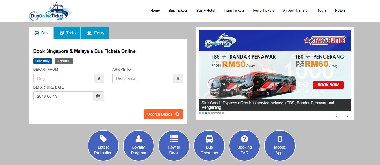 BusOnlineTicket homepage