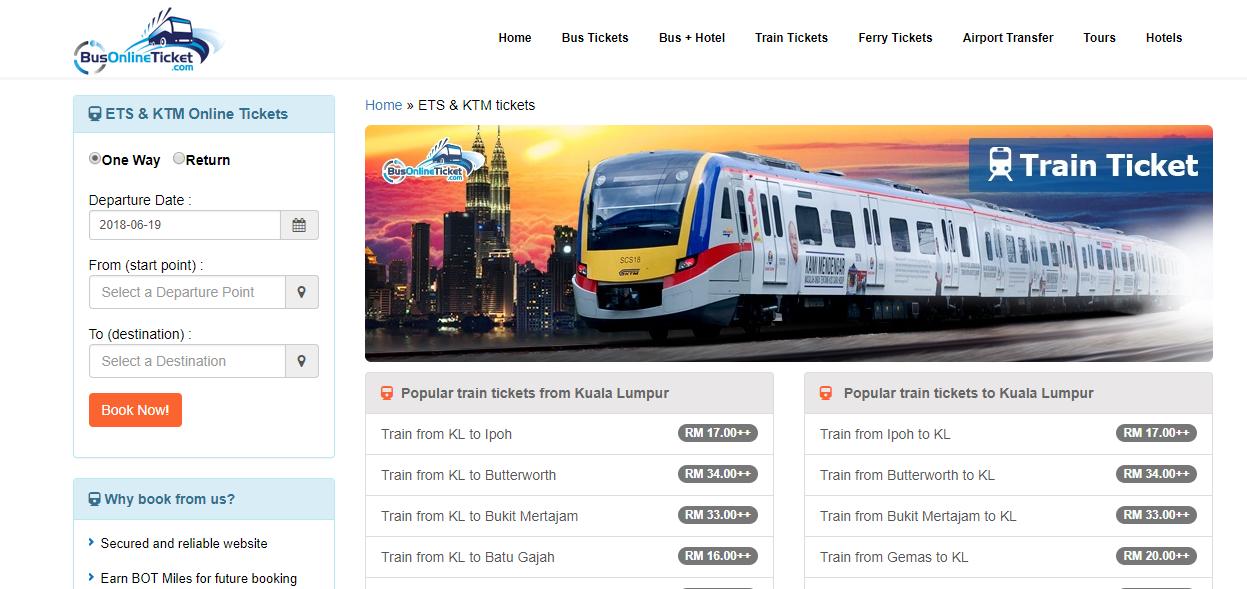 BusOnlineTicket train tickets booking