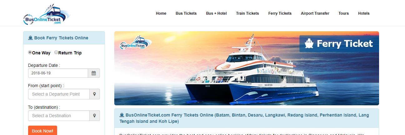 BusOnlineTicket ferry ticket booking
