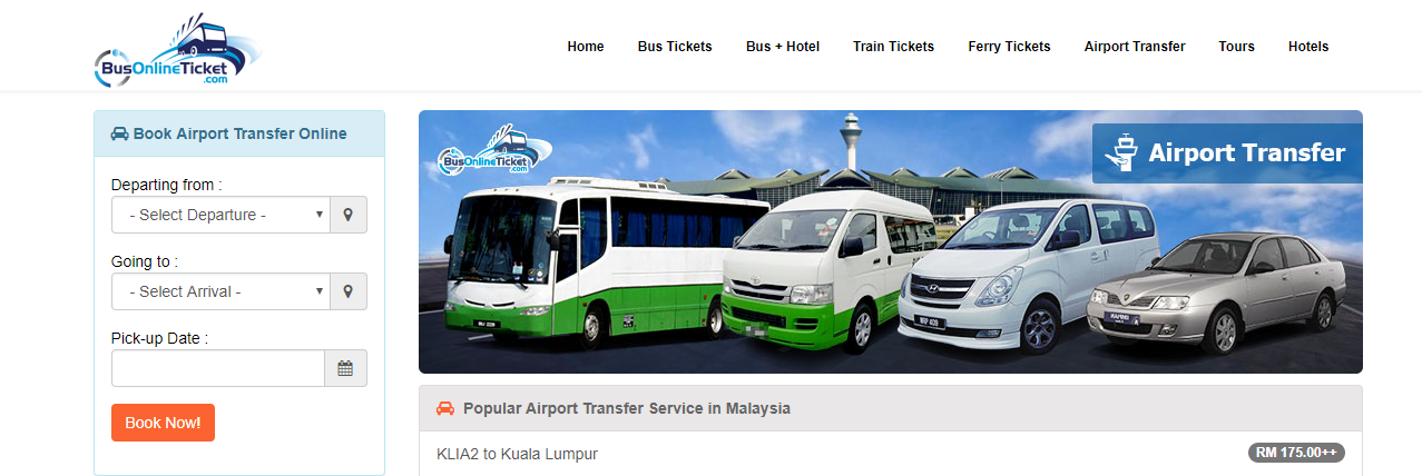 BusOnlineTicket private transfers booking