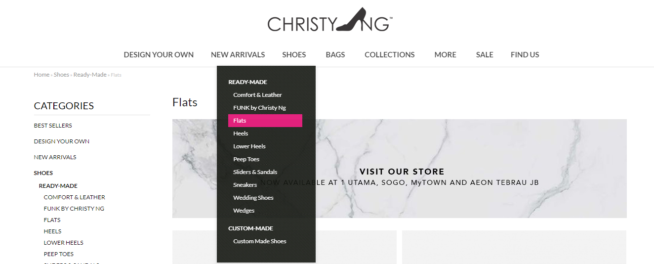 ChristyNg homepage browse category