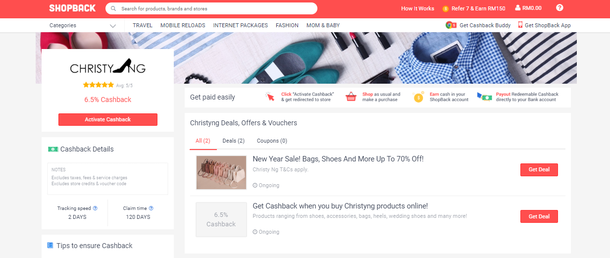 ChristyNg ShopBack Deals, Offers & Vouchers