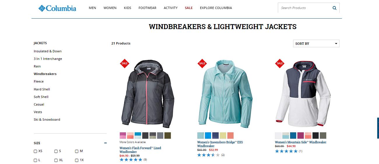 Columbia Sportswear windbreakers & lightweight jackets