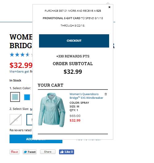 Columbia Sportswear add to cart