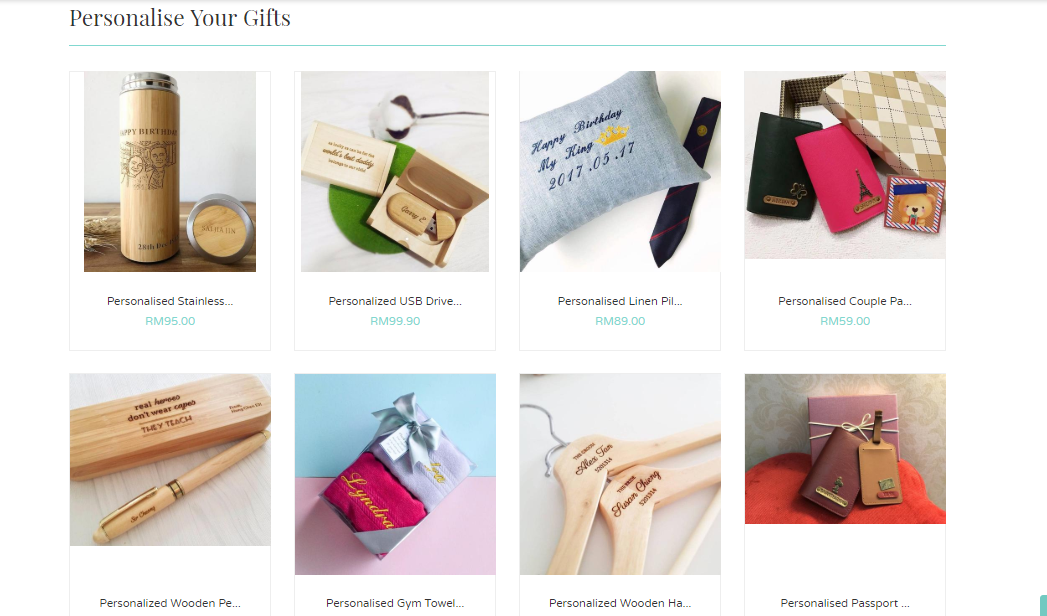 Giftr personalise your gifts