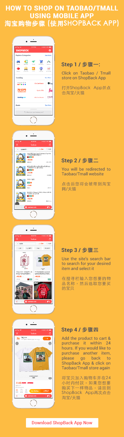 Shop Taobao ShopBack App