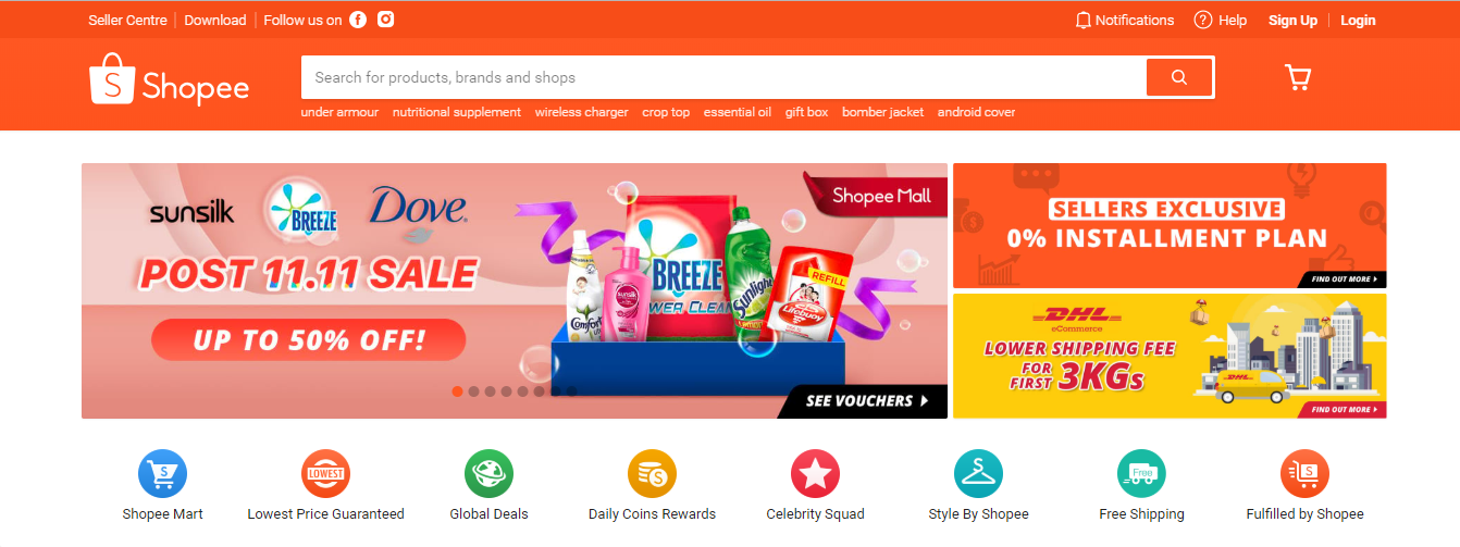 shopee homepage