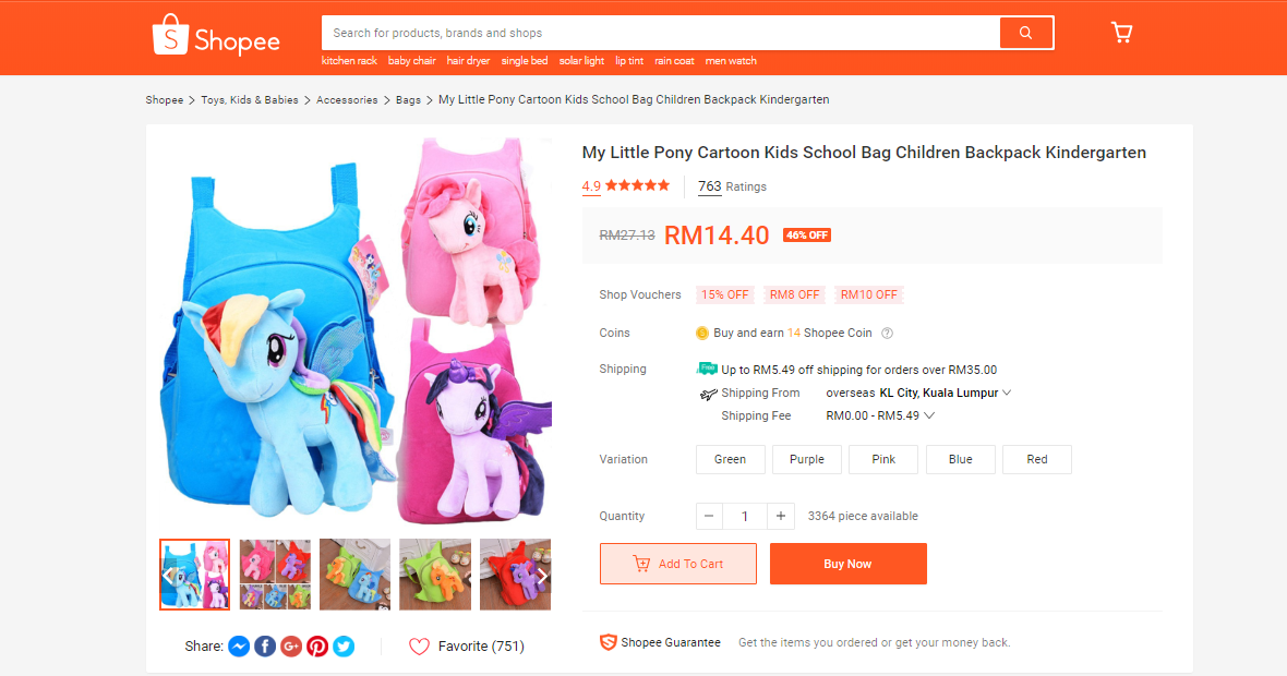 shopee product listing my little pony