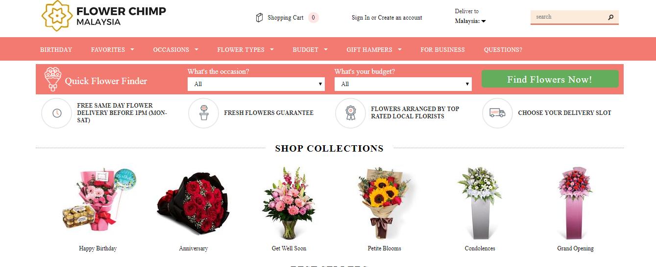 flower chimp product categories