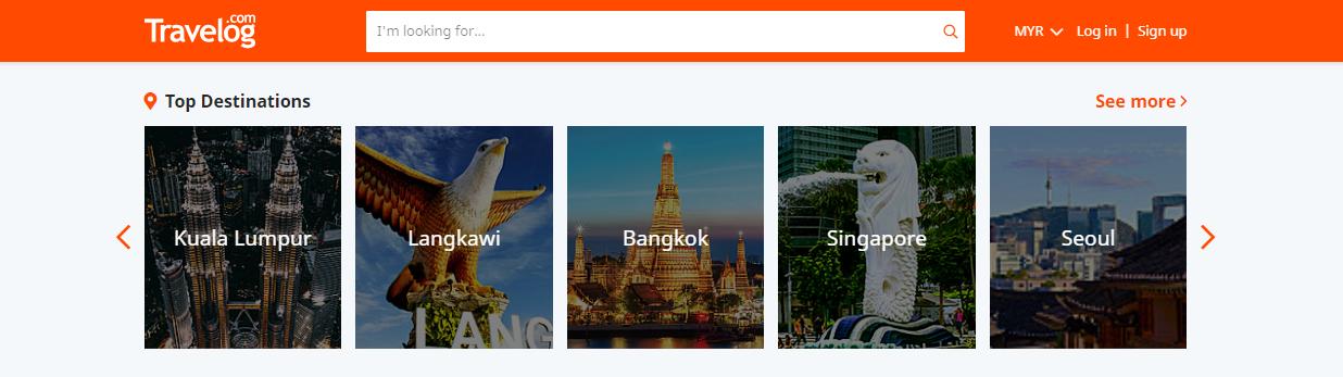 travelog top destinations