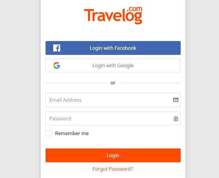 travelog log in