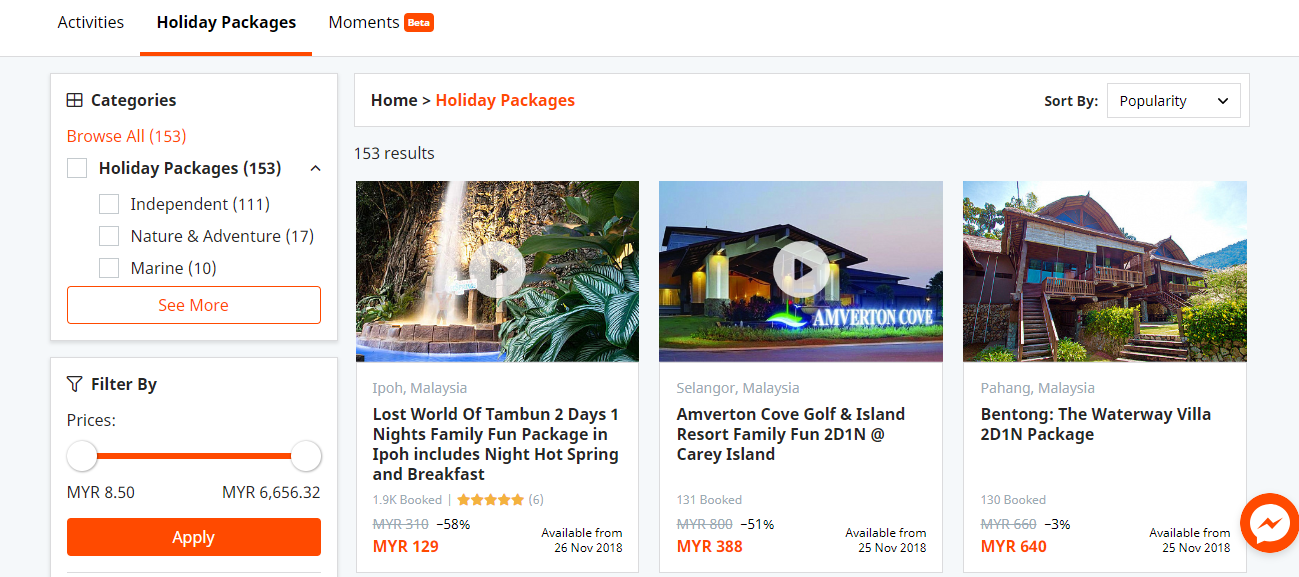 travelog holiday packages