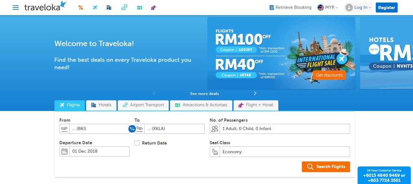 traveloka homepage