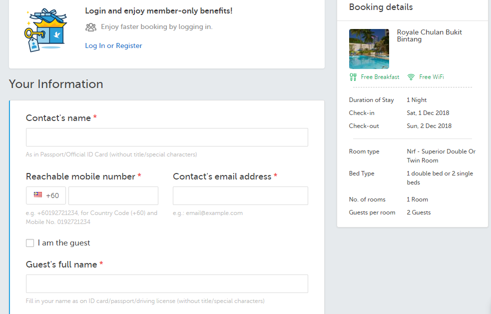 traveloka booking details