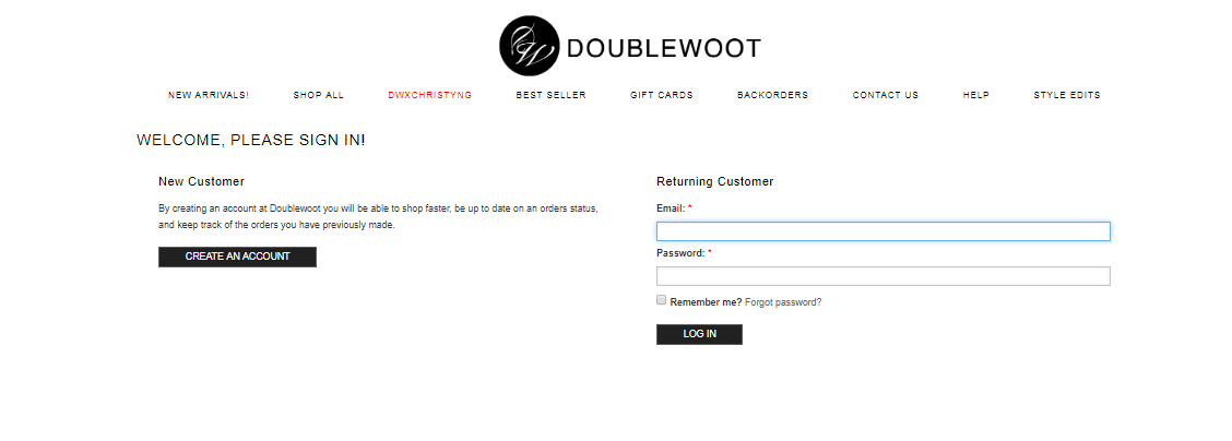 doublewoot sign in