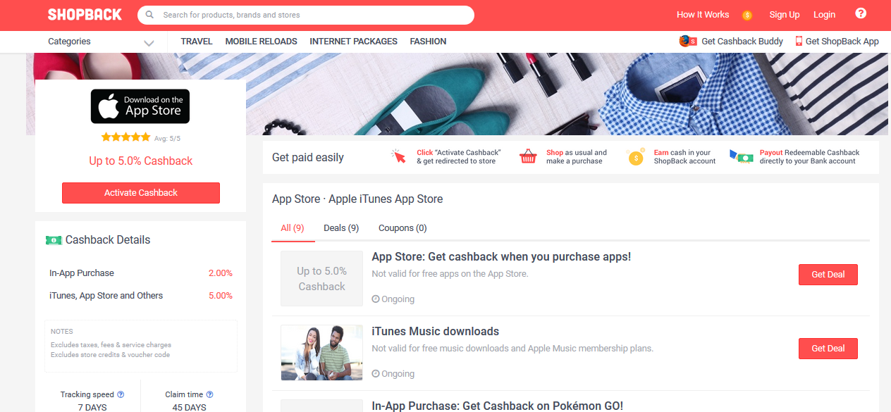 app store shopback page