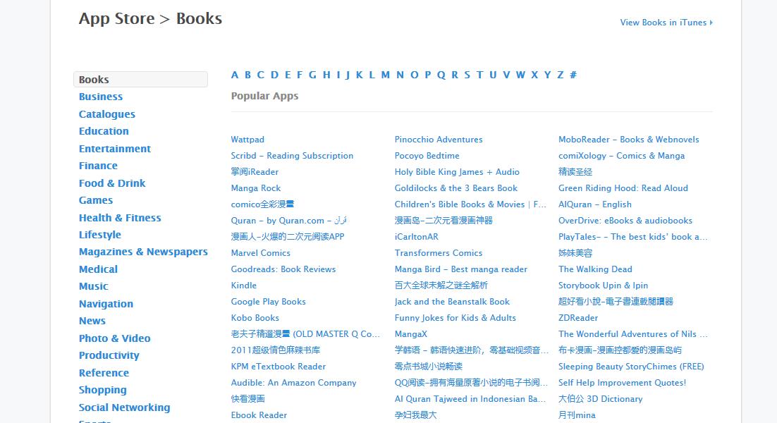 app store list