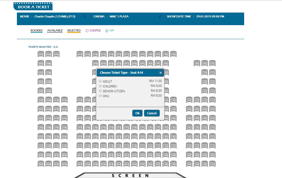 mmcineplexes seats selection
