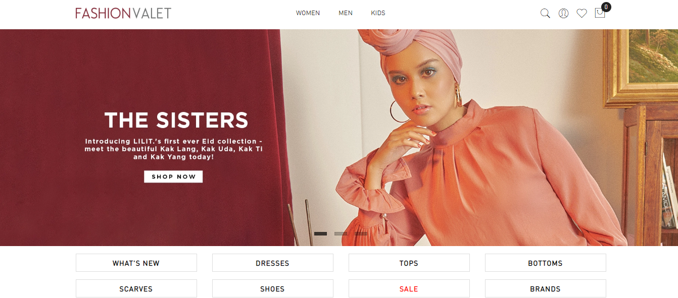 FashionValet product categories