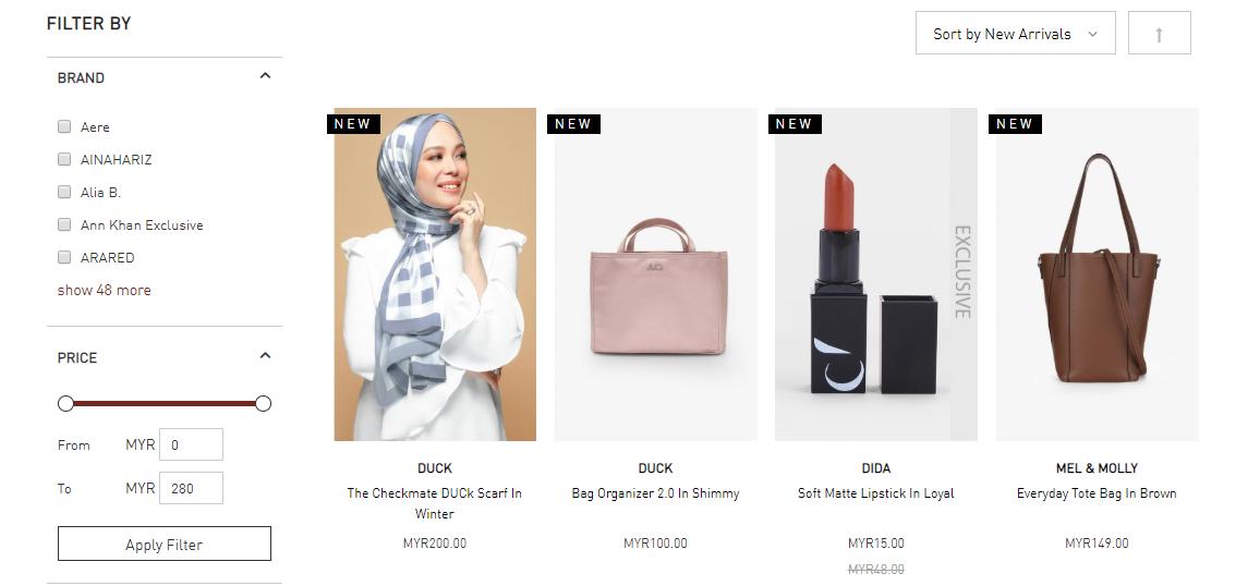 FashionValet product catalogue