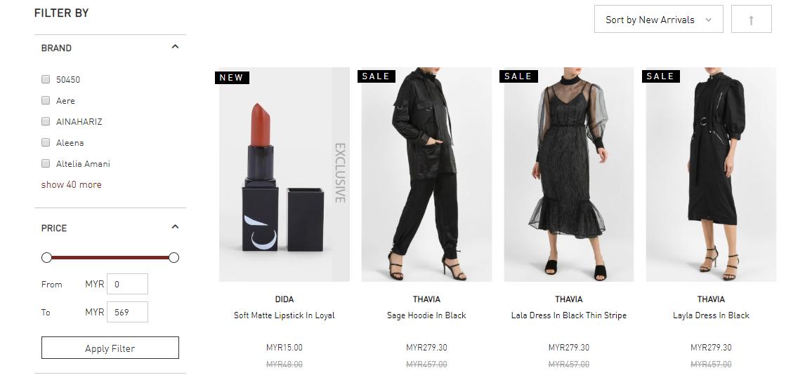 FashionValet sale category