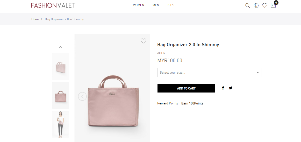 FashionValet select size