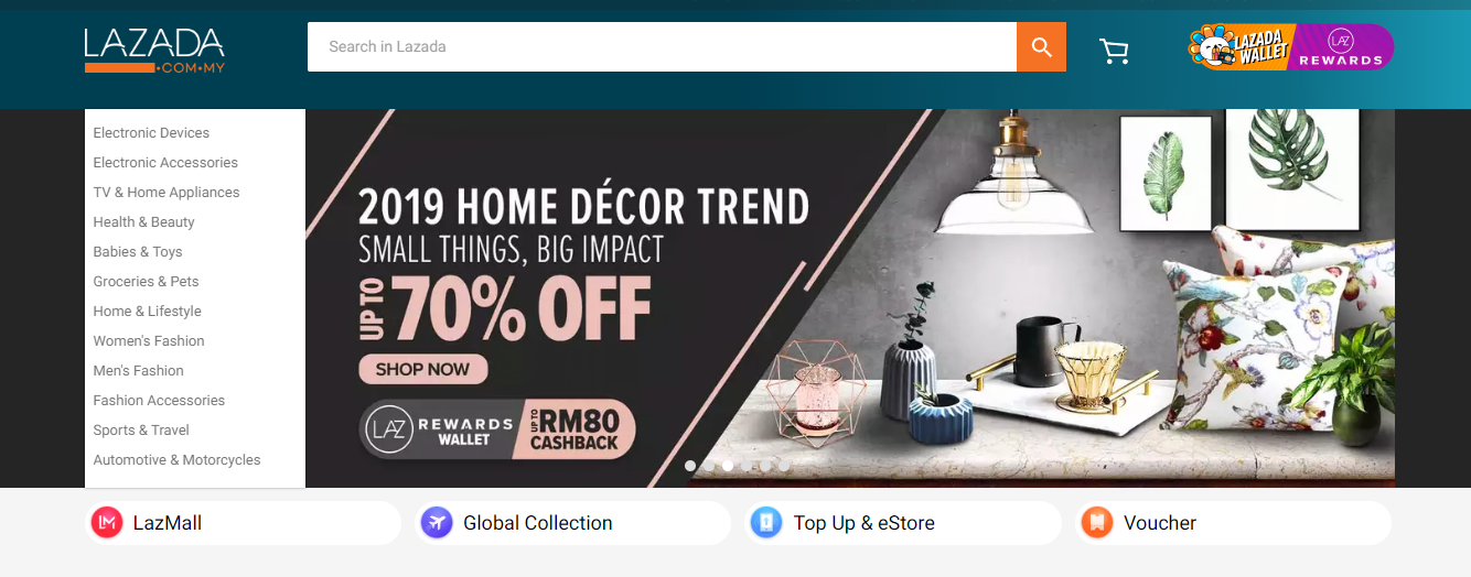 Lazada Directory Page