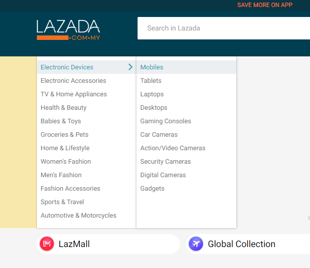 Lazada Category
