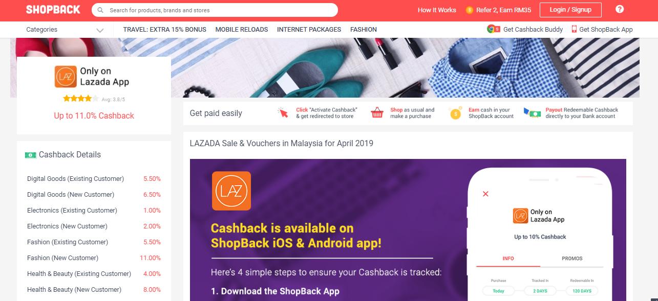 Lazada Cashback