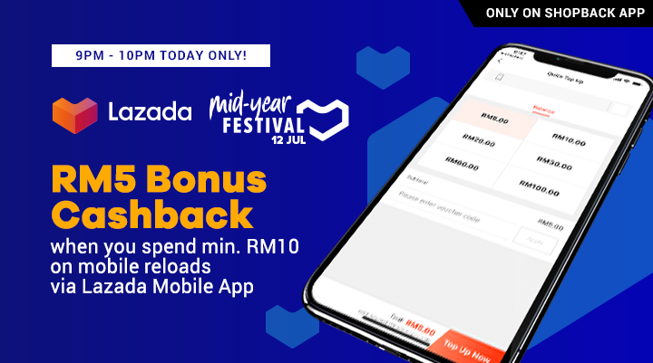 Bonus Lucky Hour Lazada Mobile Reload