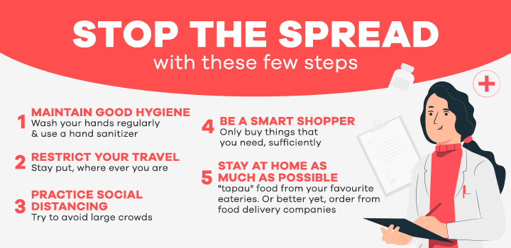 Stop the Spread. Stay at home