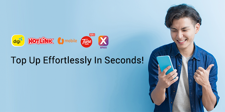 Top Up Effortlessly In Seconds!