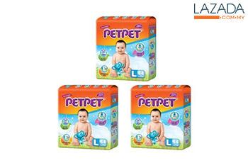 Petpet Mega Pack L 64s (3 packs)