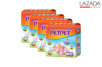 Petpet Jumbo Pack NB62 (3 + 1 FREE packs)