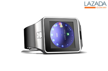DZ09 Smart Watch Bluetooth Touch Screen for Android and iOS (SilverBlack)