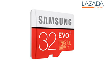 Samsung 32GB 80mb/s EVO Plus Class 10 Micro SD Card with Adapter