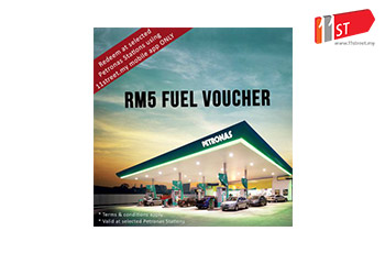 PETRONAS Fuel Voucher RM5 (valid at selected KL, Selangor and Putrajaya stations)