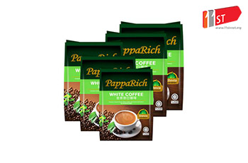 PappaRich Stevia White Coffee [Bundle: 5 Packs X 12 Sticks]