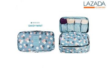 Travel Bra Organizer - Waterpoof Portable Travel Kit Storage Bag