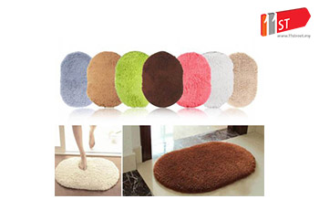 New Slip-Resistant Rug Room Oval Carpet Floor Mat