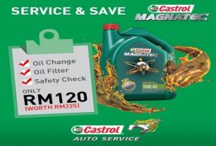 Ends 31 Dec: RM120 Castrol Auto Service Package (Magnatec) (original price RM225)