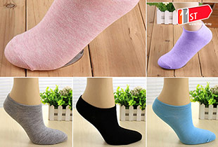 Candy Color Ankle Socks