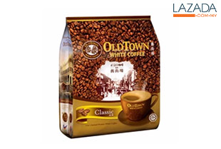 6 Packs of OLDTOWN 3 in 1 Classic White Coffee (15s x 40g)