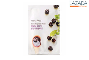 Innisfree Real squeeze BLACK BERRY mask 1 sheet / 20ml