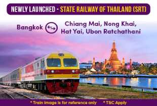 Easybook Newly Launched State Railway of Thailand (SRT)