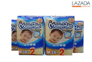 MAMY POKO Jumbo Open Diaper M38+2s (4packs)