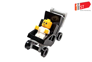LEGO Town City Fun in the Park Minifigure - Baby and Stroller
