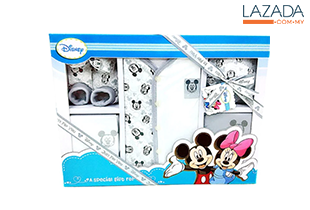 Disney 6pcs Newborn Clothing Gift Set (white )
